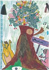 dessin arbre maison d'enfantspt